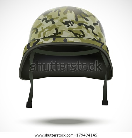 military helmet with camouflage