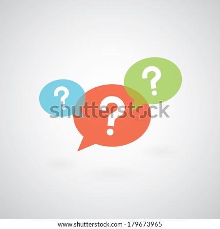 question mark symbol on gray