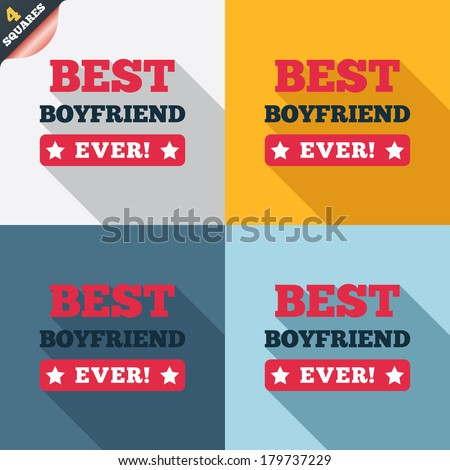 best boyfriend ever sign icon