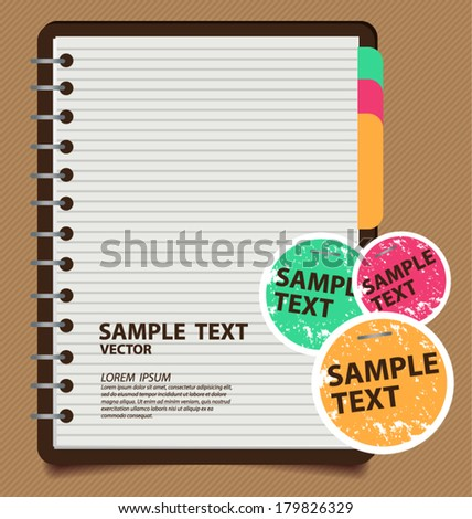 note paper vector illustration