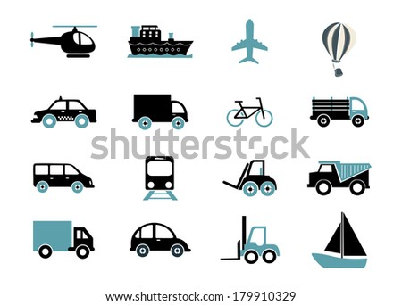 vehicles design over white