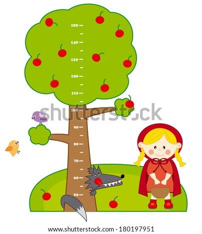 children meter walllittle red