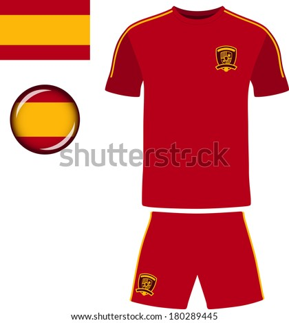 spain football jersey stock