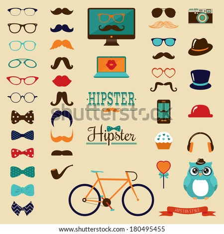 hipster colorful retro vintage