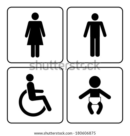 vector restroom icons  lady