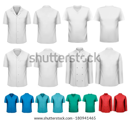 set of white and colorful work