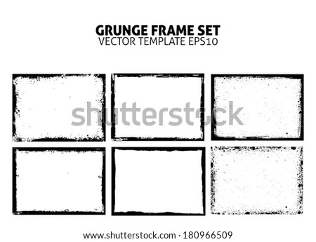 grunge frame set vector