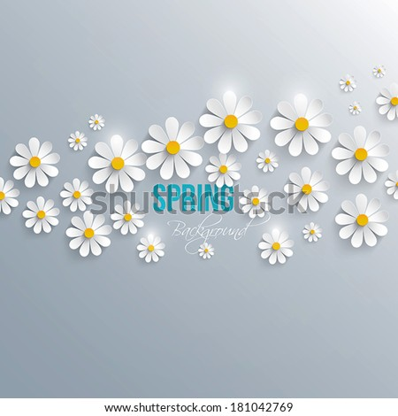 abstract spring background with