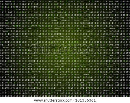 binary computer code green