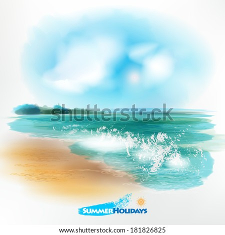 sea landscapethe illustration