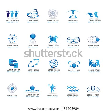 abstract icons set   isolated