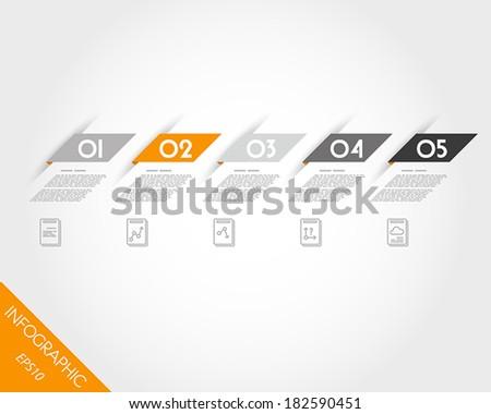 orange oblique modern paper