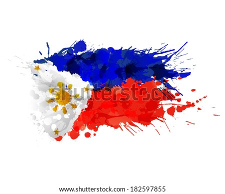 flag of philippines made of