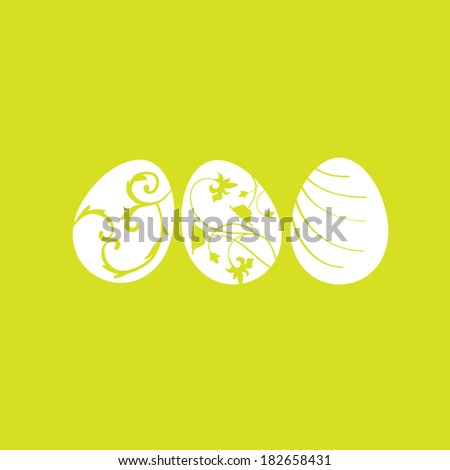 colored easter eggs  vector set