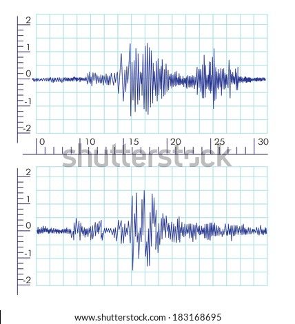 vector seismograms graph