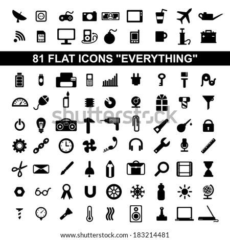 set of flat icons education