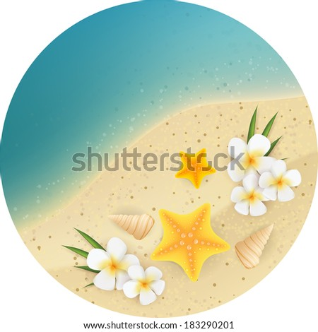 sand and sea round background