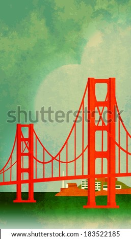 retro looking golden gate