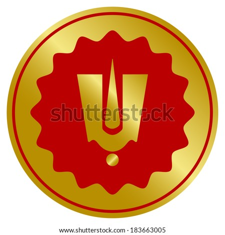 golden hindu god tilak sign