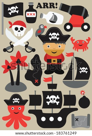 pirate objects collection