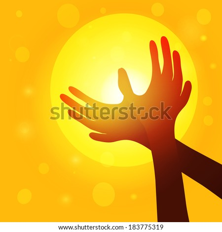 silhouette hands  in shape of