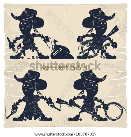 american cartoon cowboy bandits