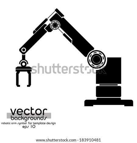 vector robotic arm  symbol
