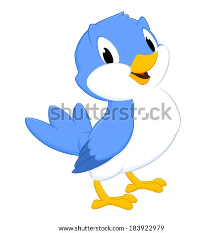 cartoon bird isolated object