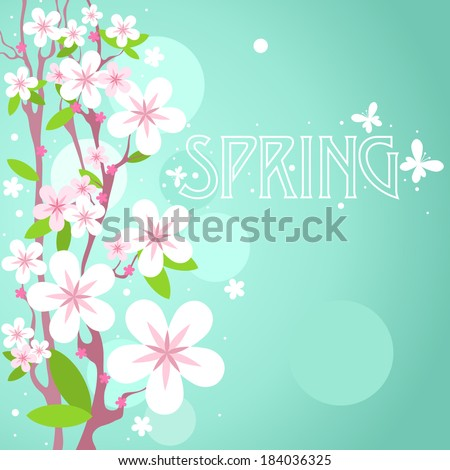 vector spring background with