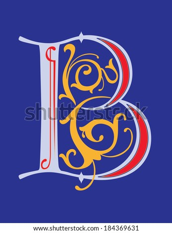 calligraphic letter b with