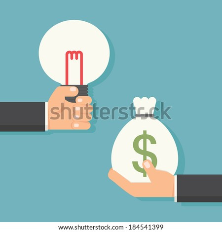 idea to money  vector