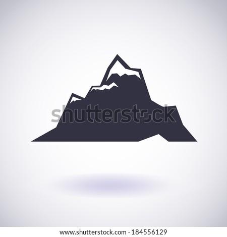 mountains symbol vector icon