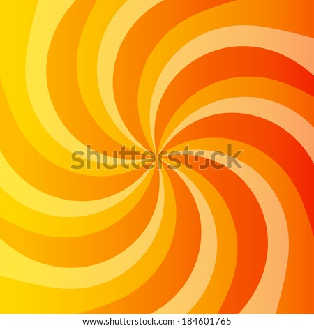 abstract orange power