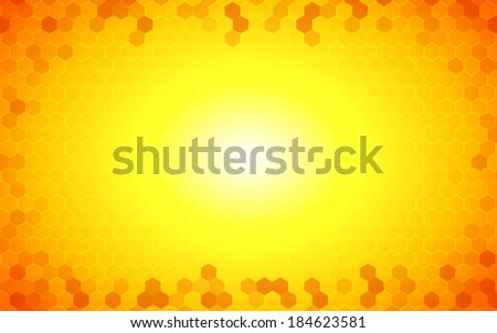 summer gradient yellow hexagon