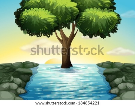 illustration of a big tree in