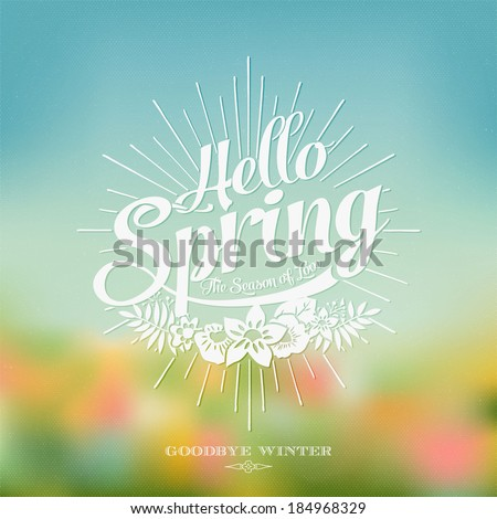 beautiful typographical spring