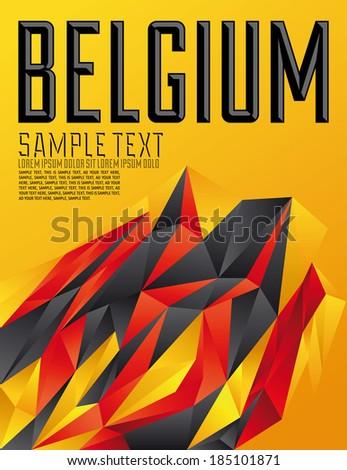 belgium   vector geometric