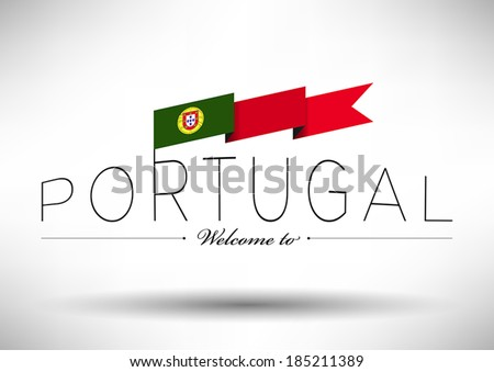 portugal flag with typography