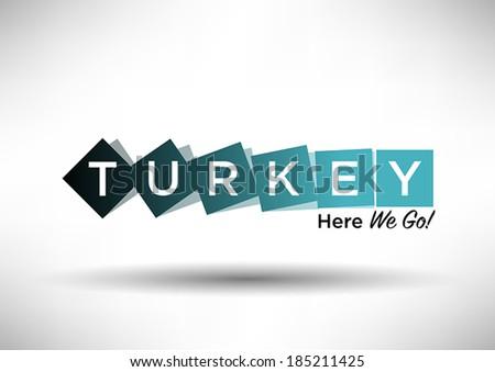 turkey typography design