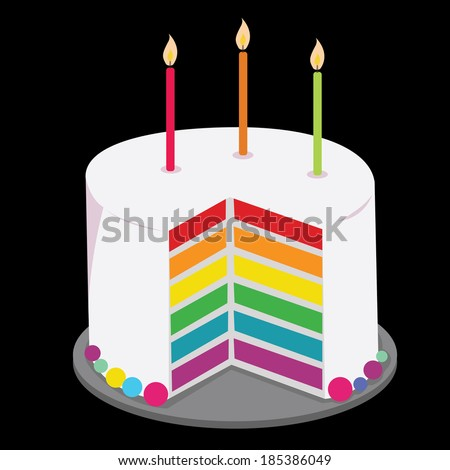 rainbow cake decorated with