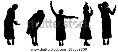 vector silhouette of woman on a