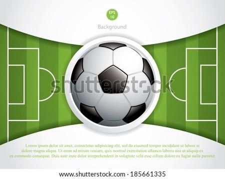 soccer ball brochurevector