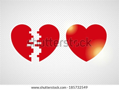 two halves of one heart on