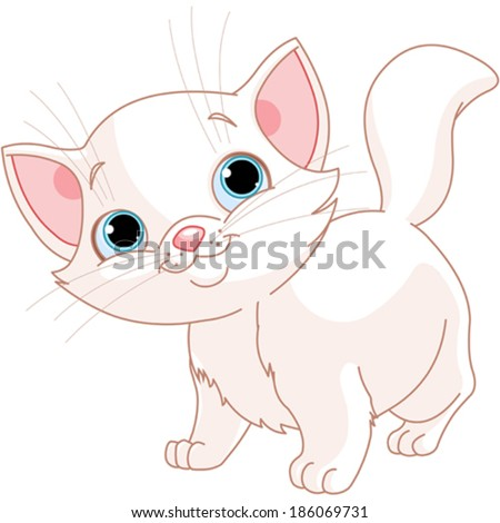 illustration of adorable white