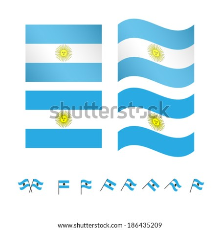 argentina flags eps10