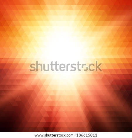 sunset triangle background