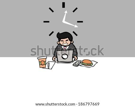 businessman workaholic work