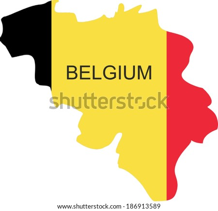 belgium   vector map isolated