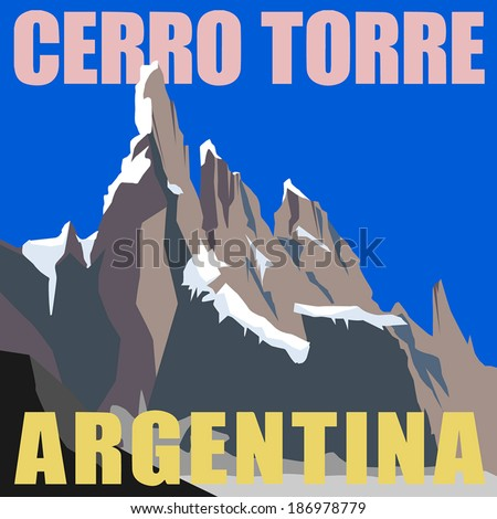 mount cerro torre   peak in the