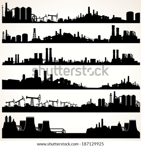 abstract industrial skyline set